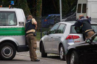 Polizia a Monaco, durante la sparatoria del 22 luglio (STR/AFP/Getty Images)