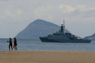 Rio DE Janeiro, spiaggia di Copacabana militarizzata (Buda Mendes/Getty Images)