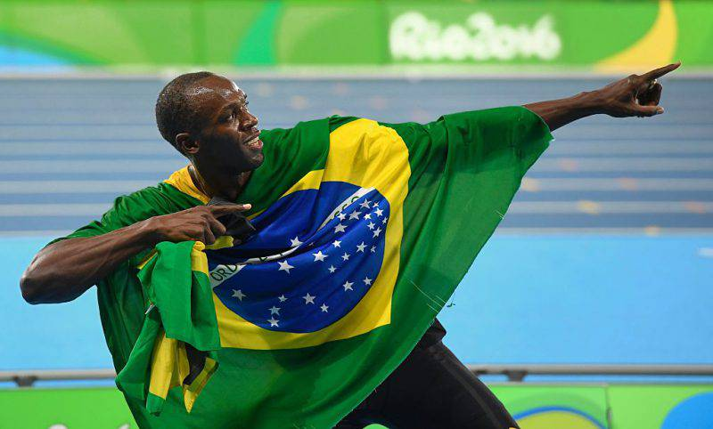 Usain Bolt alle Olimpiadi di Rio (ERIC FEFERBERG/AFP/Getty Images)