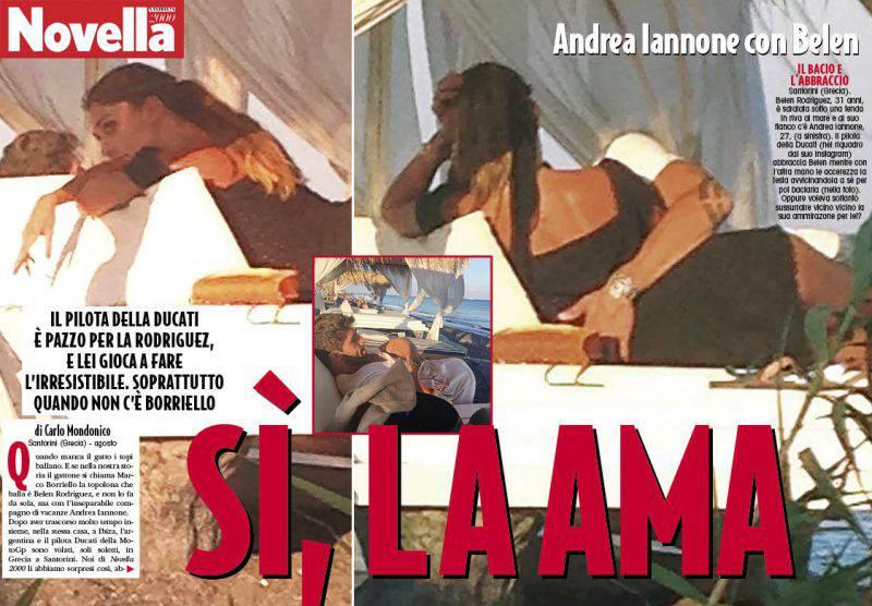 Belen e Iannone su Novella2000