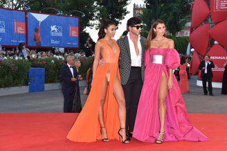 VENICE, ITALY - SEPTEMBER 03:  (EDITORS NOTE: Image contains nudity.)  (L-R) Dayane Mello, Matteo Manzini and Giulia Salemi attend the premiere of 'The Young Pope' during the 73rd Venice Film Festival at Palazzo del Casino on September 3, 2016 in Venice, Italy.  (Photo by Pascal Le Segretain/Getty Images)