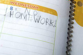 No Homework - back to school concept