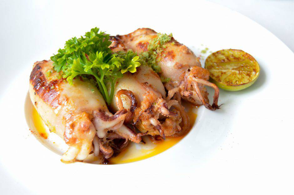 Grilled Stuffed Squid