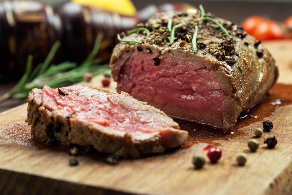 Juicy Beef Steak on a Cutting Board