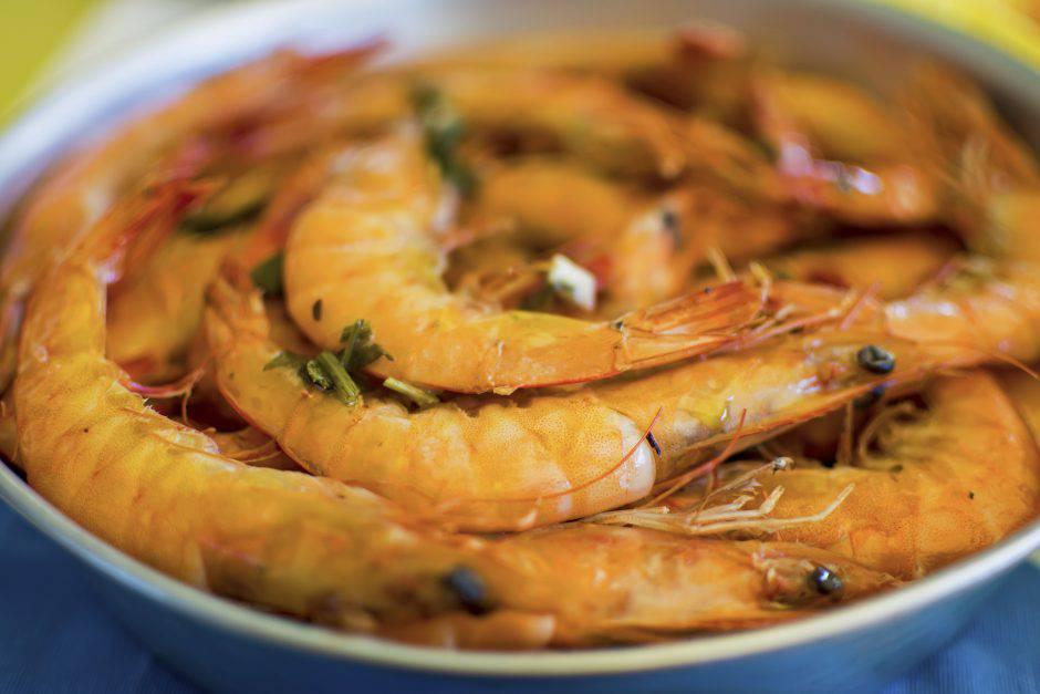 Grilled Shrimps Served on a Plate