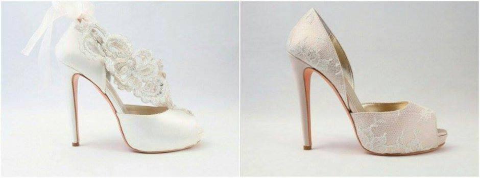 Le scarpe da sposa di Alessandra rinaudo in una romantica foto gallery 2ff48617f999