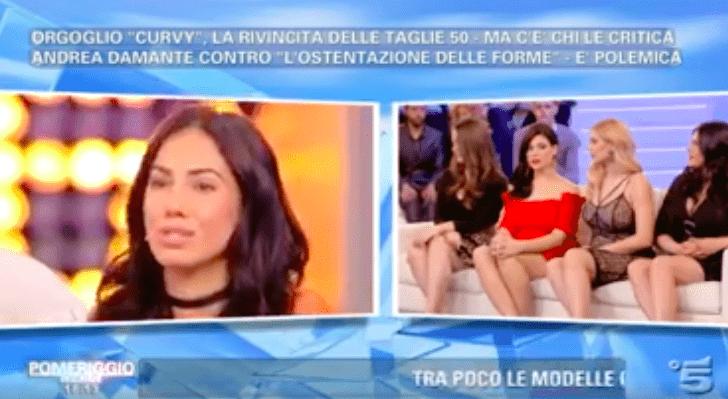 Giulia De Lellis choc a Pomeriggio5, inveisce contro le donne curvy