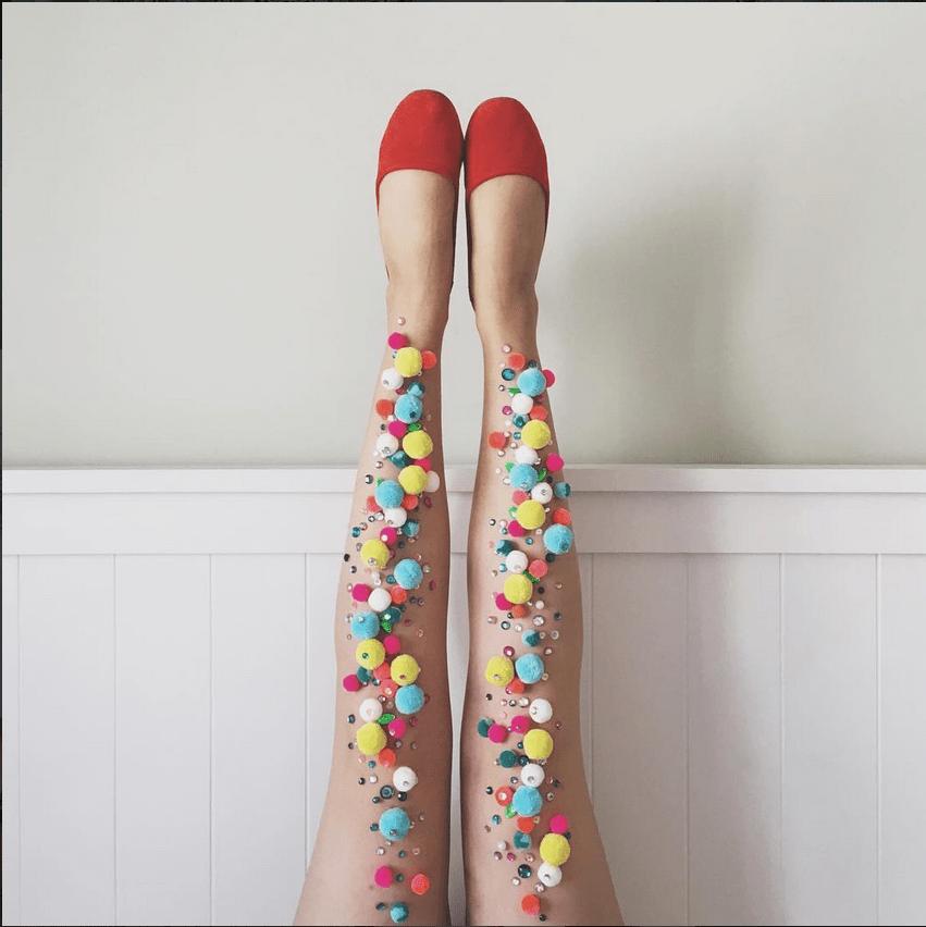 beni di consumo Regno Unito offrire Le calze di Rachel Burke, opere d'arte da indossare