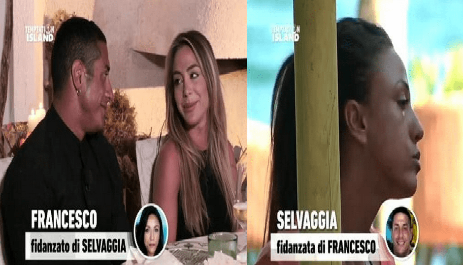 TEMPTATION ISLAND 2017 FRANCESCO E SELVAGGIA