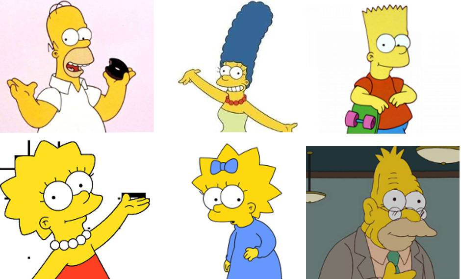 collage simpson
