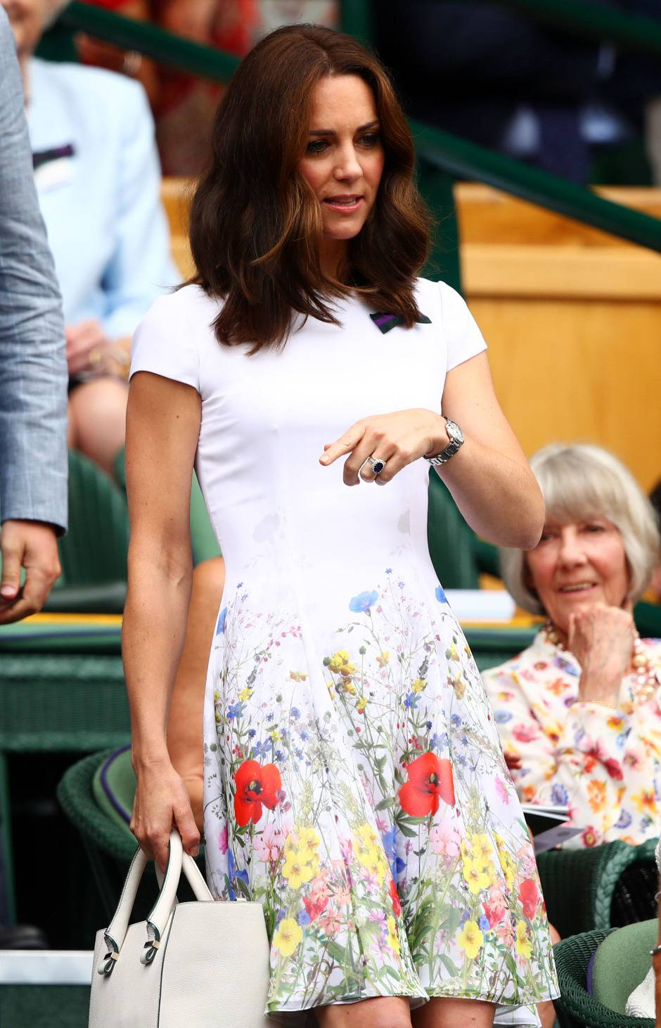 Kate Middleton con abito a fiori