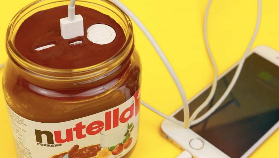 caricabatterie nutella