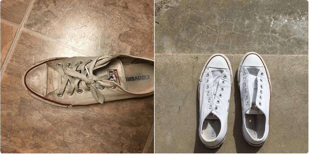 Sneakers bianche: un trucco per farle tornare come nuove