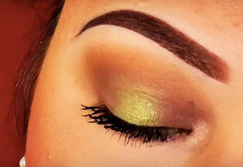 trucco occhi verde marrone