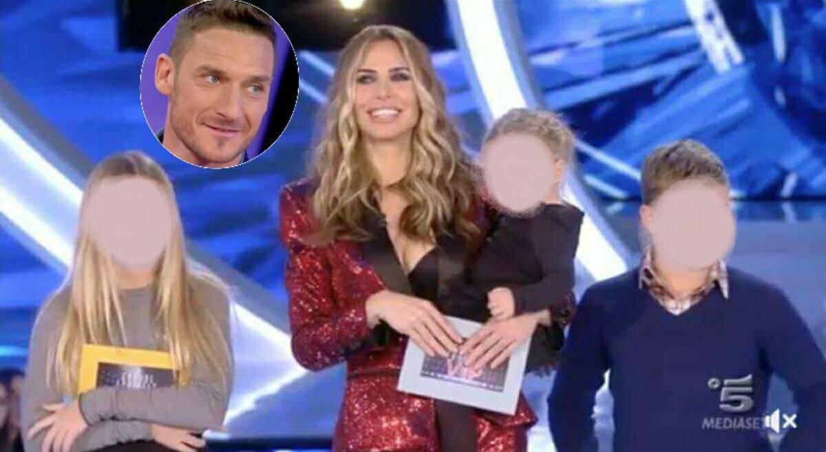 Ilary Blasi con i figli e Totti sorpresa al Grande Fratello Vip