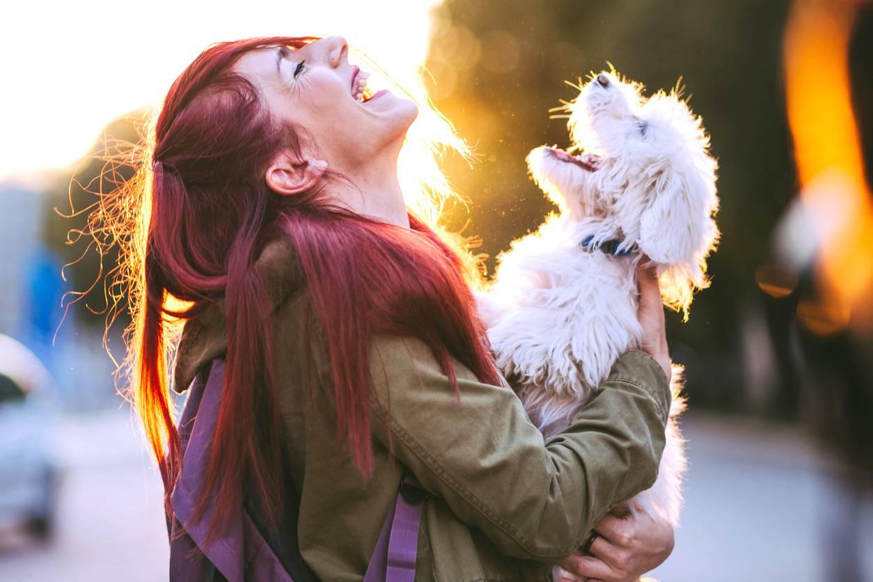 donna con cane