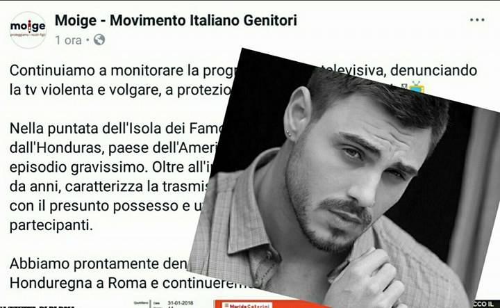 Isola dei Famosi 2018: l'intervento del Moige sul caso Francesco Monte!