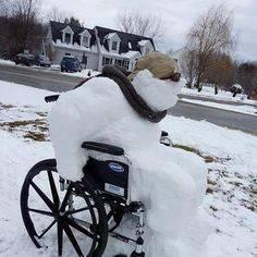 puoazzo neve carrozzina