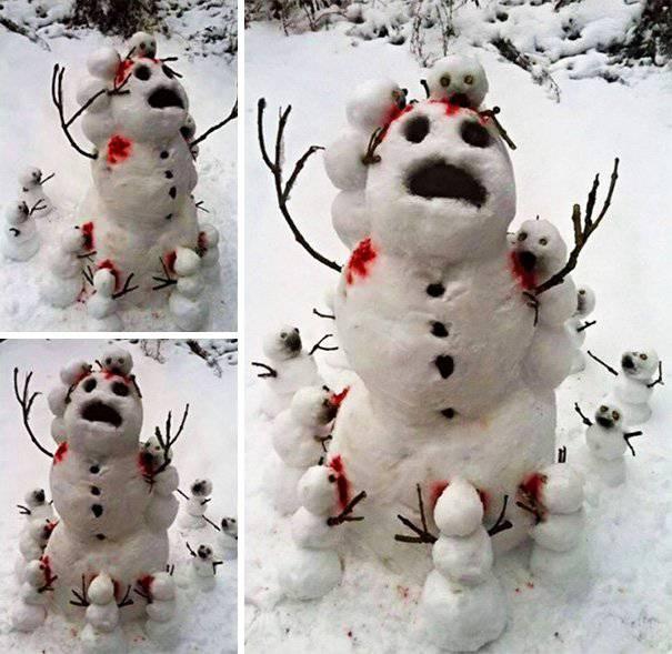 pupazzo neve horror