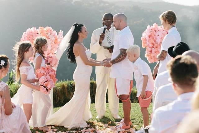 Justin Bieber e Selena Gomes insieme al matrimonio del padre