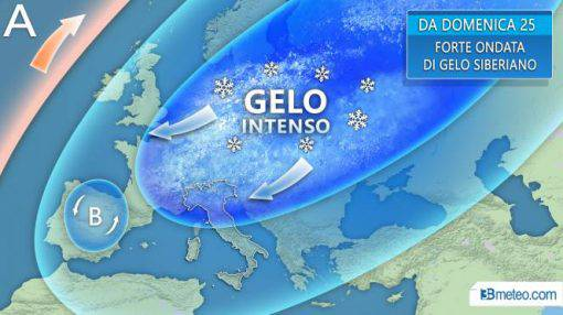 Buran piogge e gelo in Italia