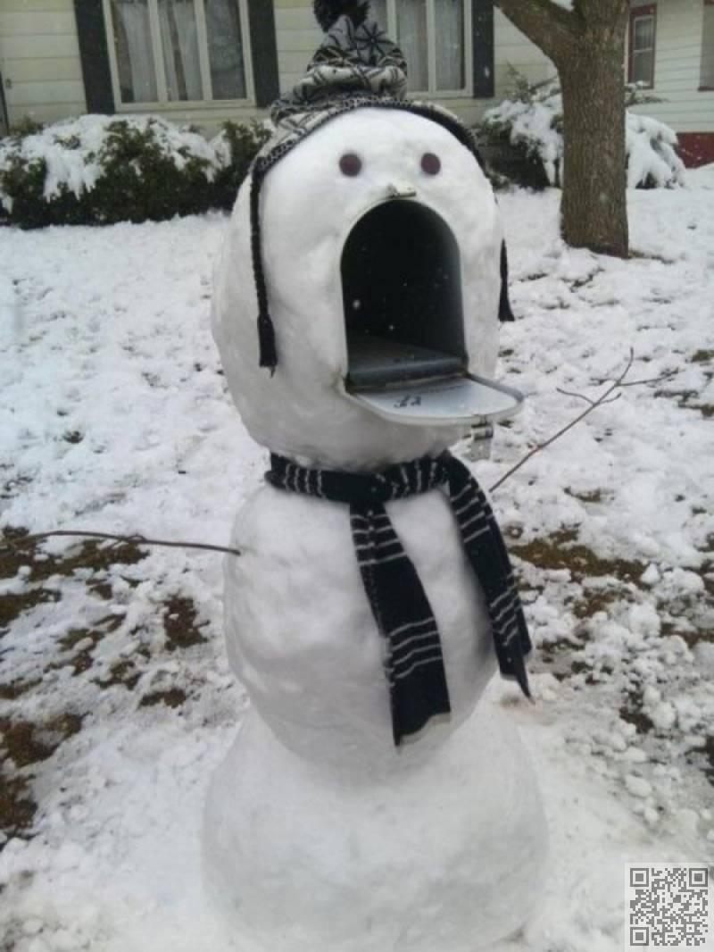 pupazzo di neve, cassetta postale