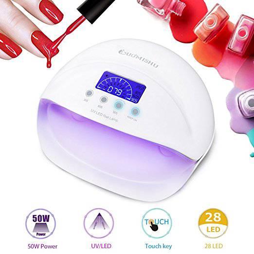 Lampada Unghie UV LED da 50W Manicure/Pedicure per Gel Unghie