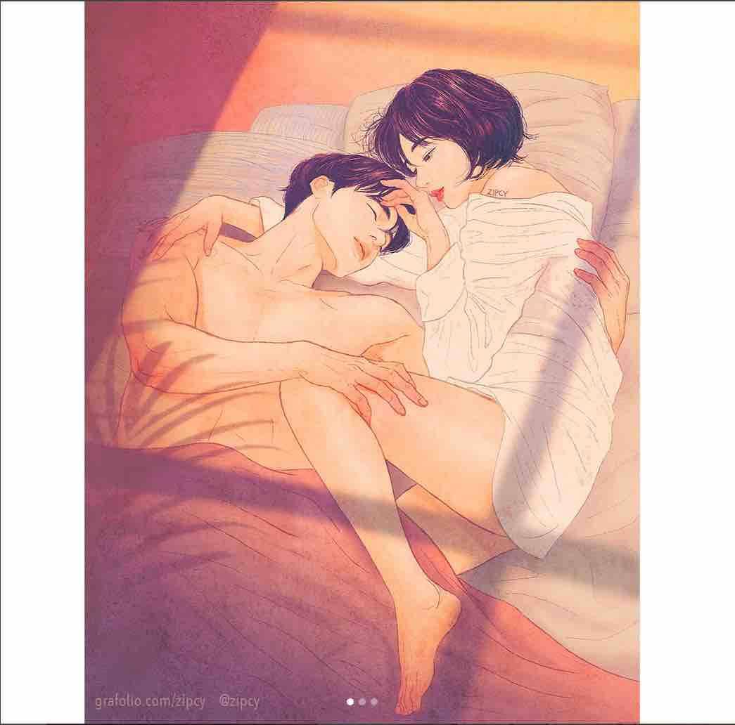illustrazioni amore sensuale