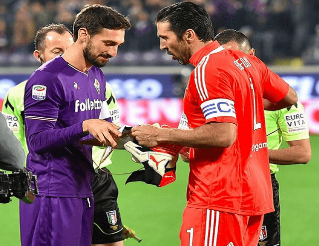 buffon addio a davide astori