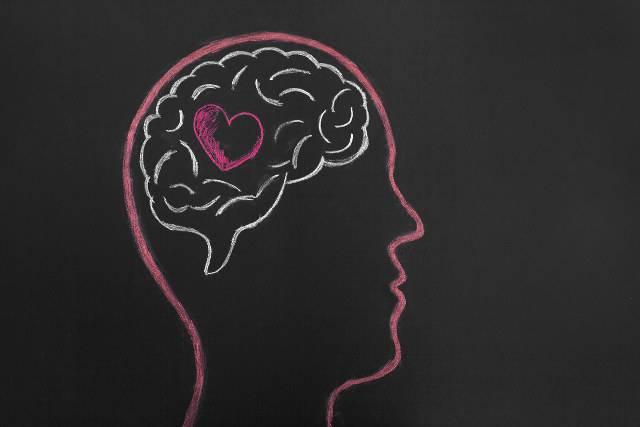 cervello attivo con l'amore