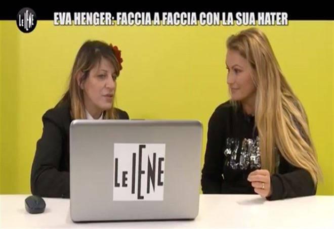 """Le Iene : Eva Henger faccia a faccia con la sua Hater"""""""