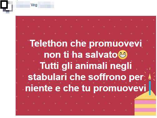vegani contro Fabrizio Frizzi