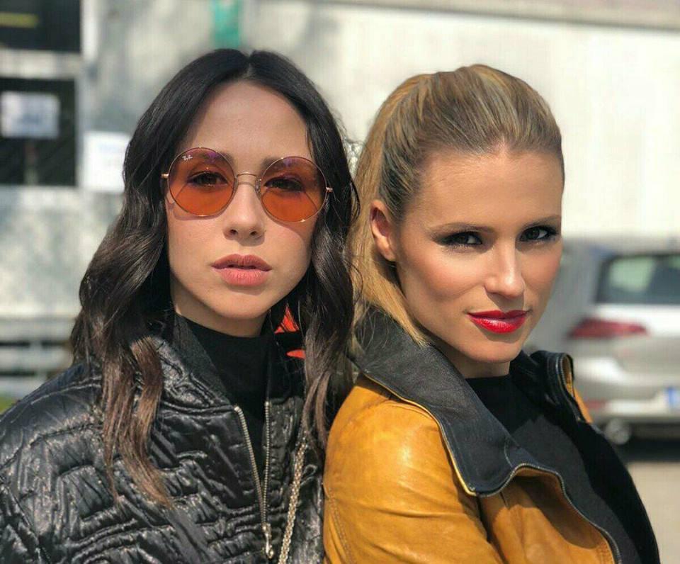 Michelle Hunziker torna in Tv assieme alla figlia Aurora