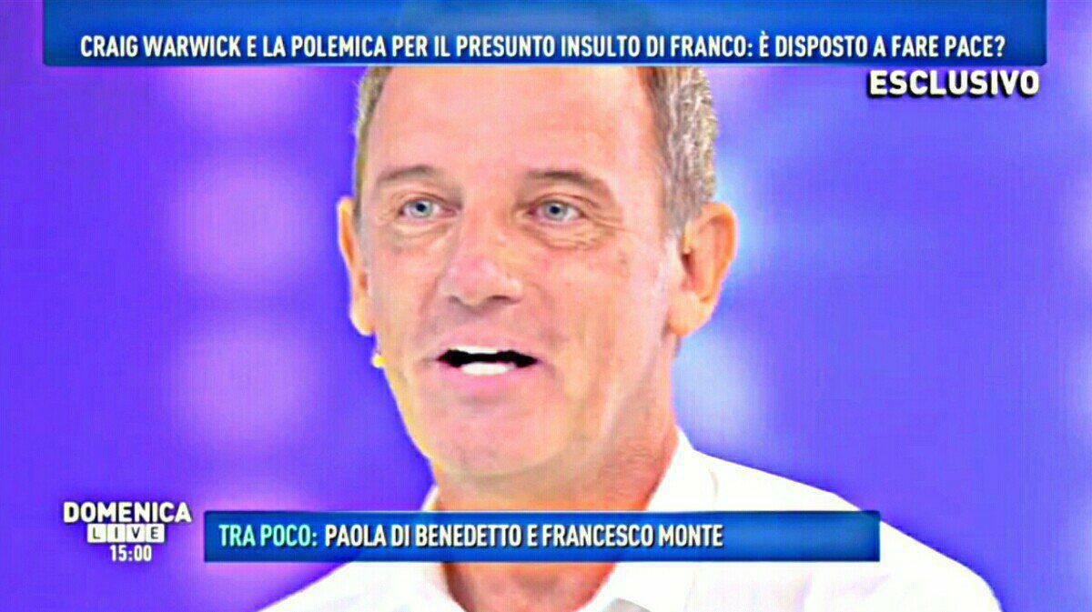 Craig Warwick torna in Tv e sbugiarda Franco Terlizzi