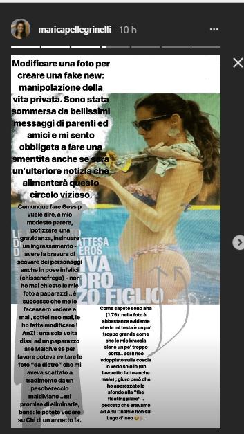 Marica Pellegrinelli incinta