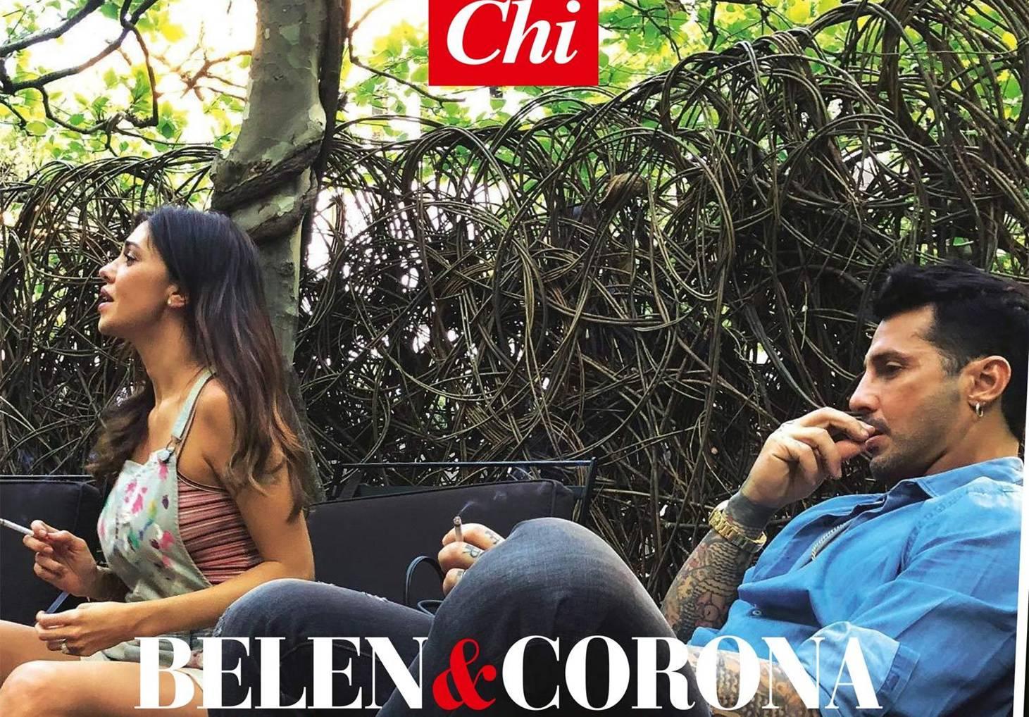 Belen e Corona, incontro a Milano