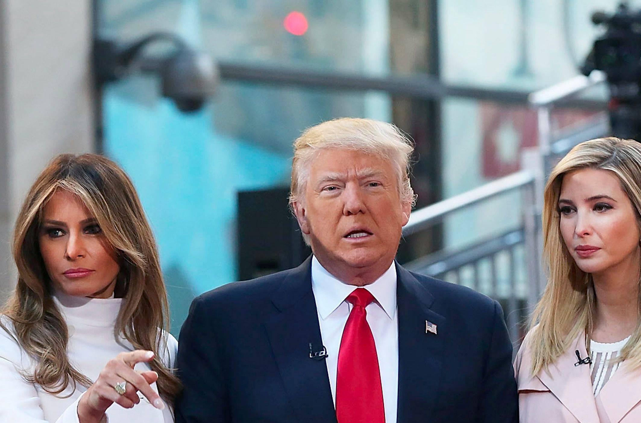 Donald Trump, Melania e Ivanka