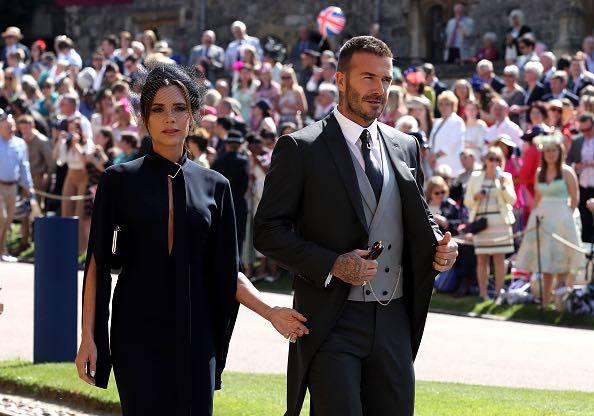 Beckham e la moglie al Royal Wedding