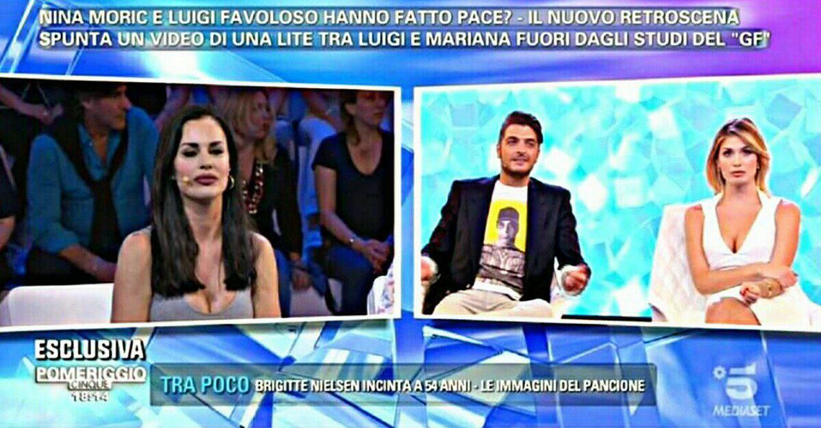 Luigi Favoloso e Mariana Falace. lite fuoriosa a 'Pomeriggio 5'