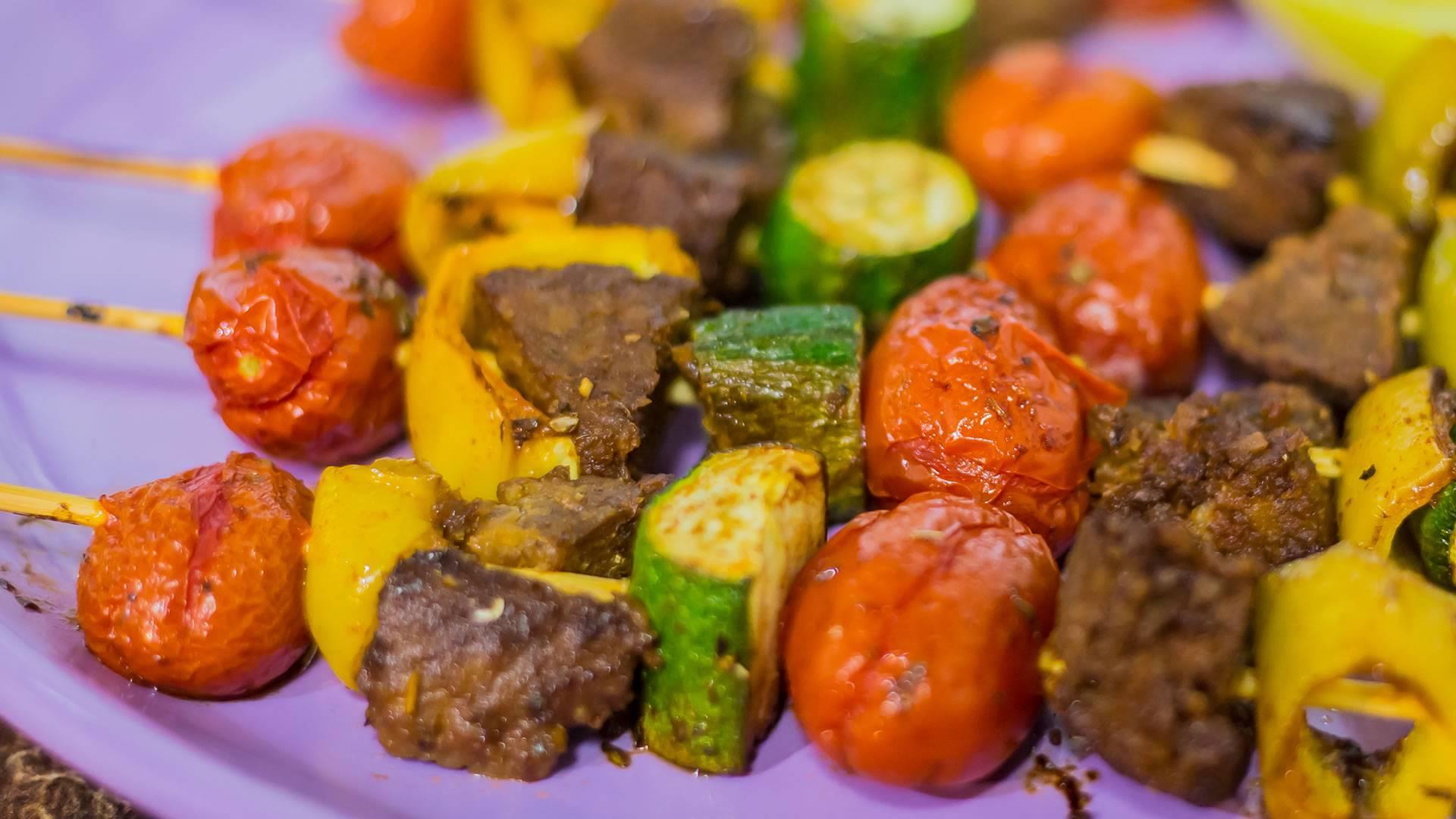 Ricetta Vegana: spiedini di verdure e seitan