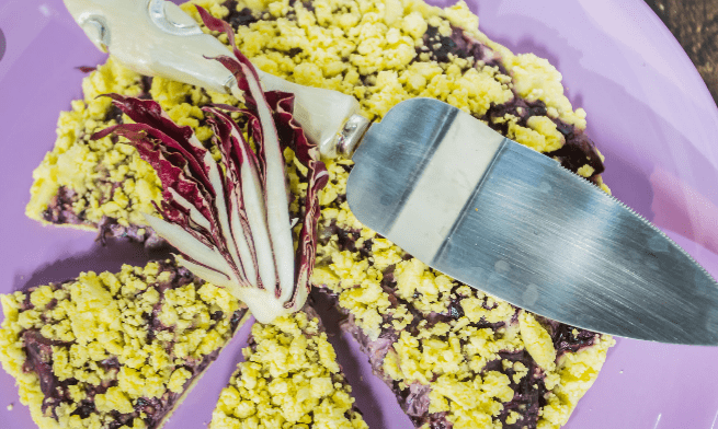 Come preparare la sbriciolata al radicchio