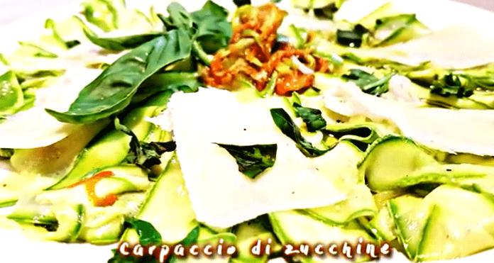 Come preparare il carpaccio di zucchine
