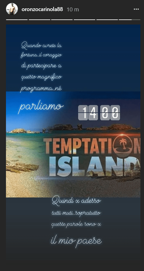 oronzo carinola temptation island 2018