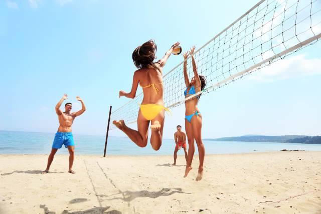 allenarsi in spiaggia