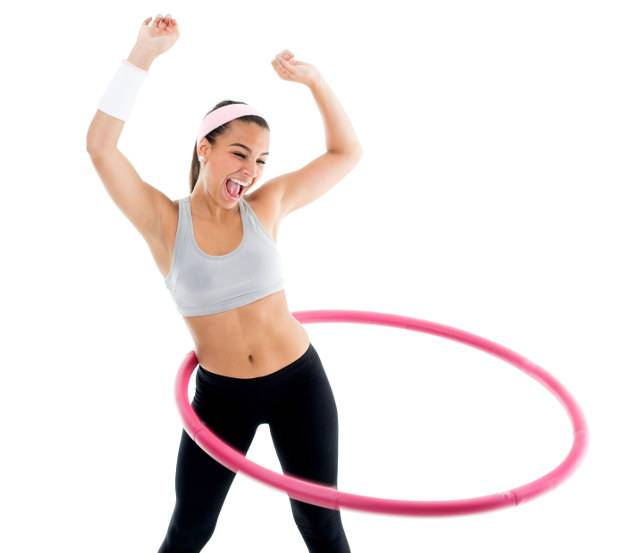 Perdi peso con hula hoop