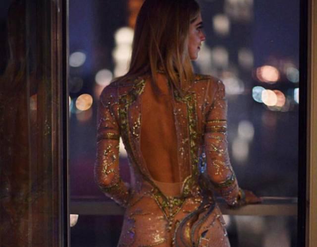 Chiara Ferragni in abito trasparente