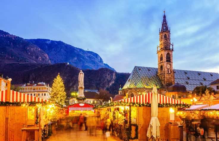 mercato natale Bolzano