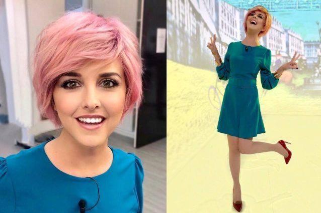 nadia toffa parrucca rosa splendida forma