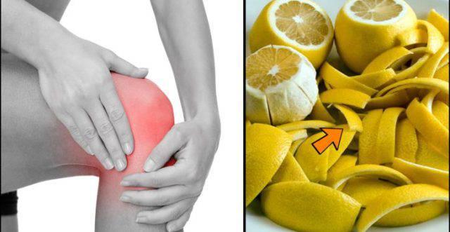 Rimedio naturale per dolori articolari con limone e olio d..