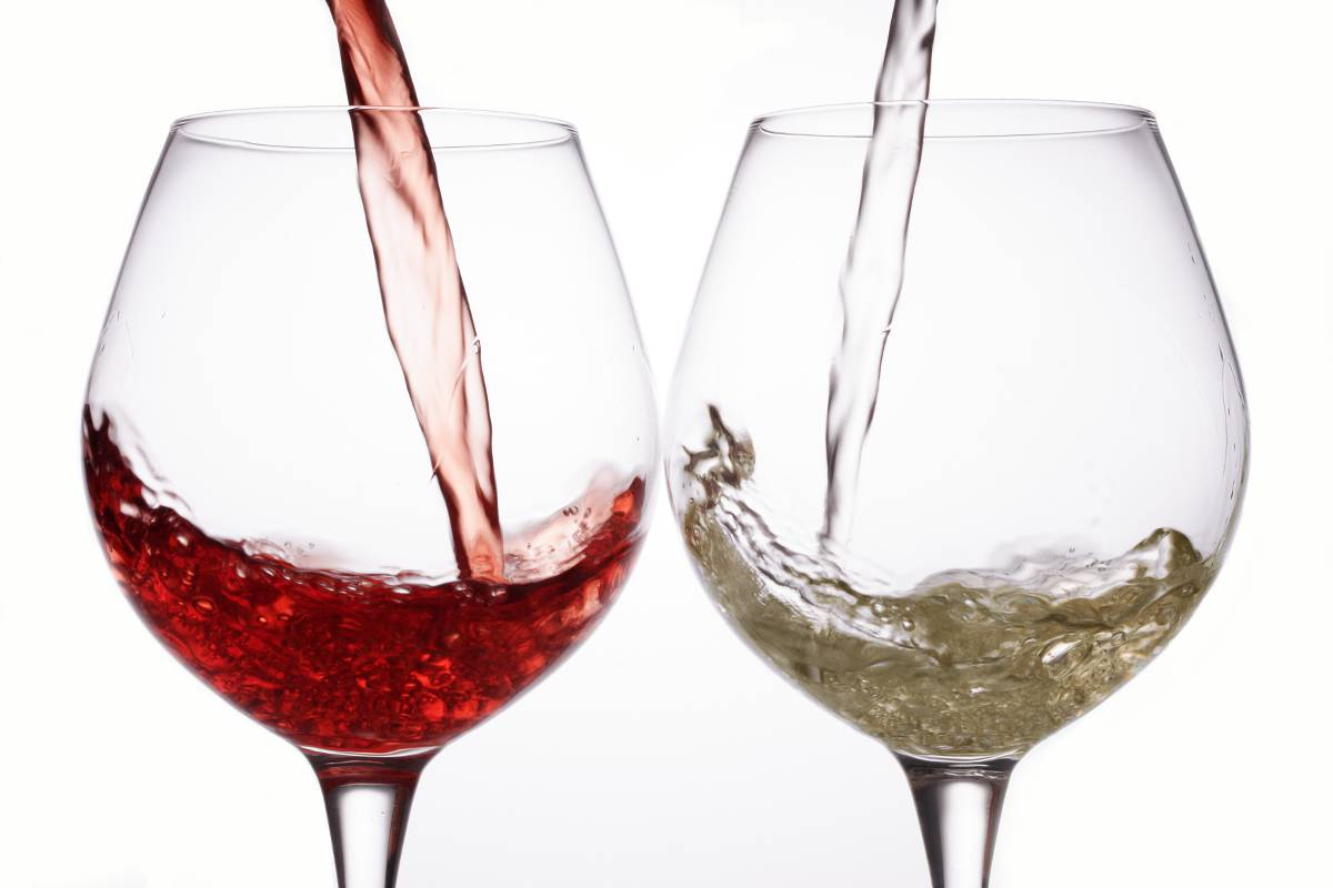 vino rosso ,bianco e rosato
